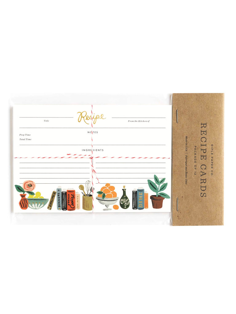 Kitchen Shelf Recipe Card Pack