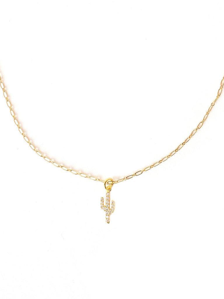 Tiny Cactus Necklace