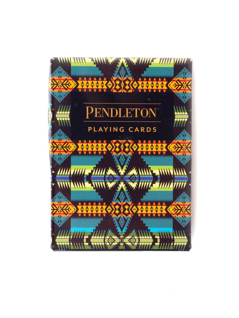 Green Pendleton Playing Cards