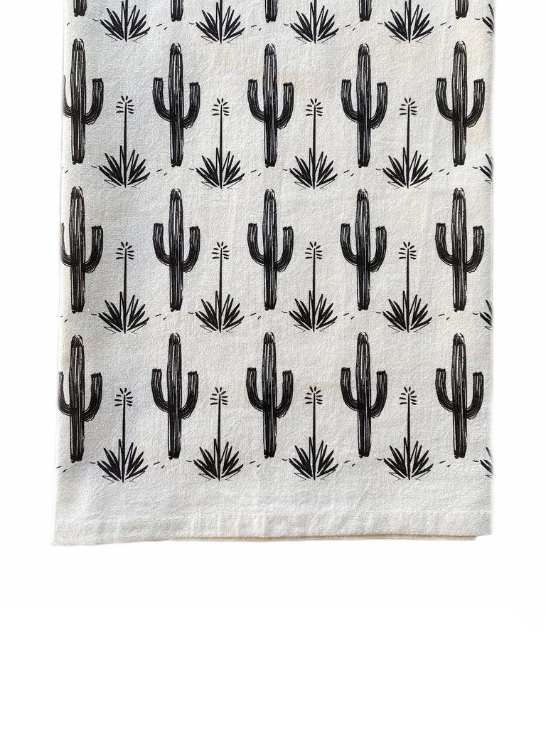 Painted Saguaro Bar Towel