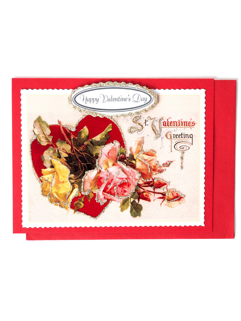 Heart Roses Valentines Card