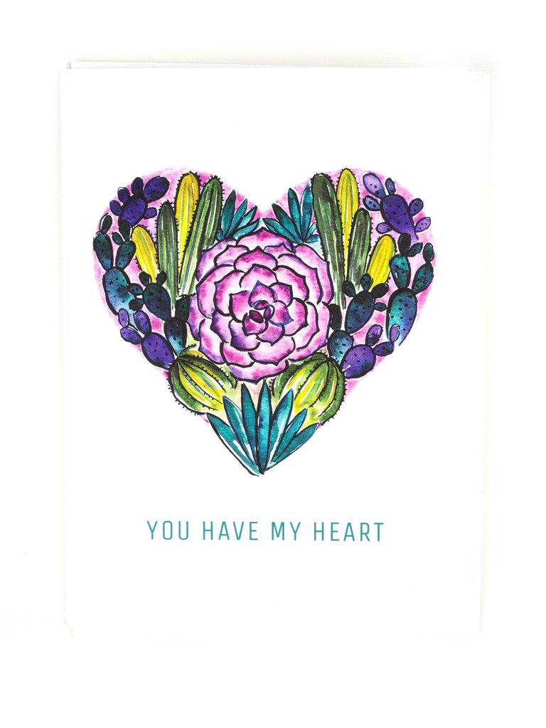 Desert Heart Card