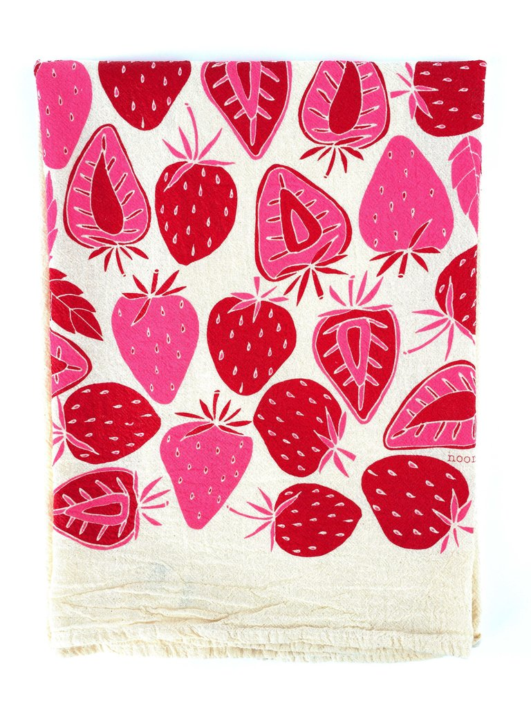 Strawberries Flour Sack Tea Towel