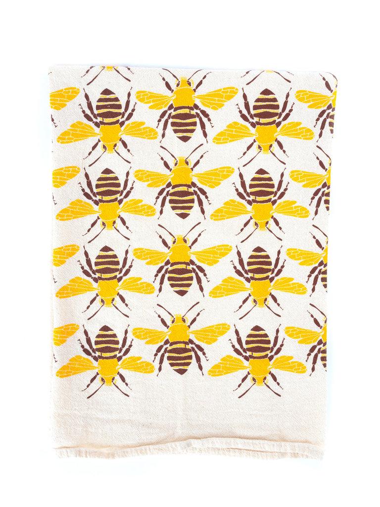 Bees Flour Sack Tea Towel