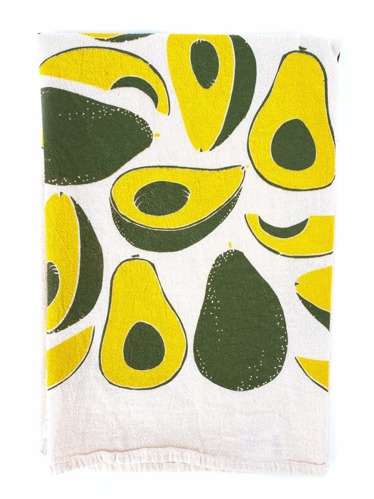 Avocado Flour Sack Tea Towel