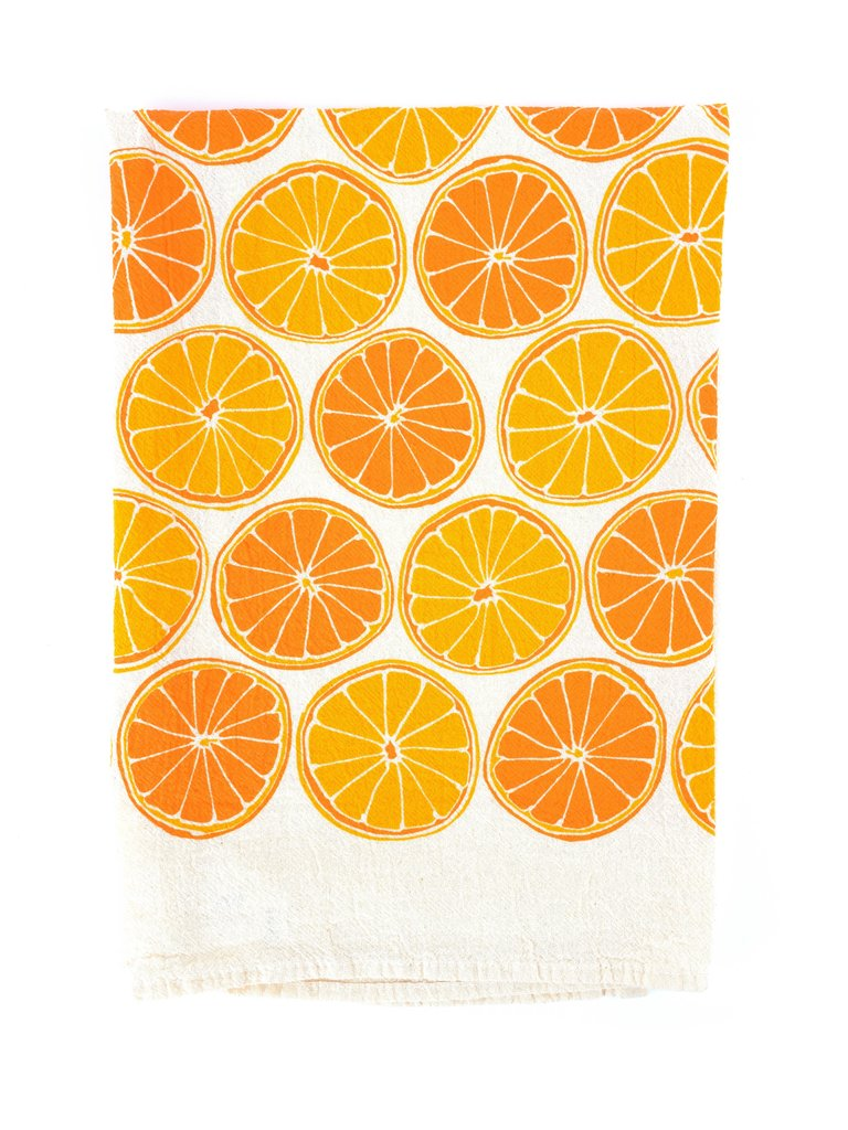 Oranges Flour Sack Tea Towel