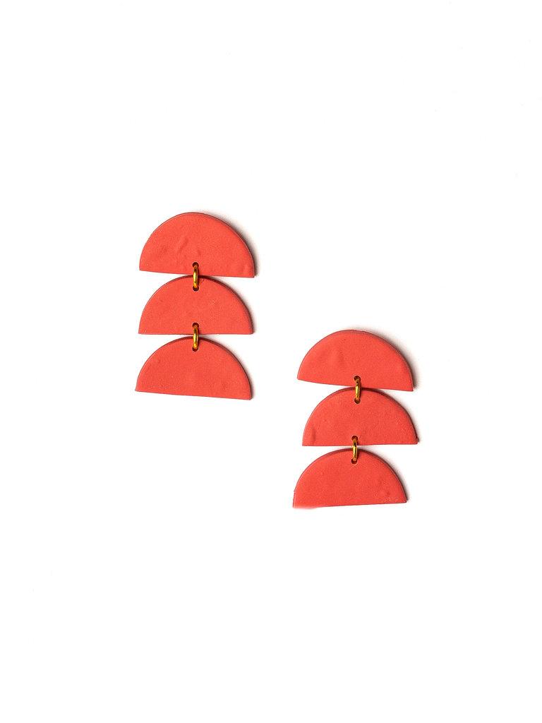 Juniper Clay Earrings, Papaya