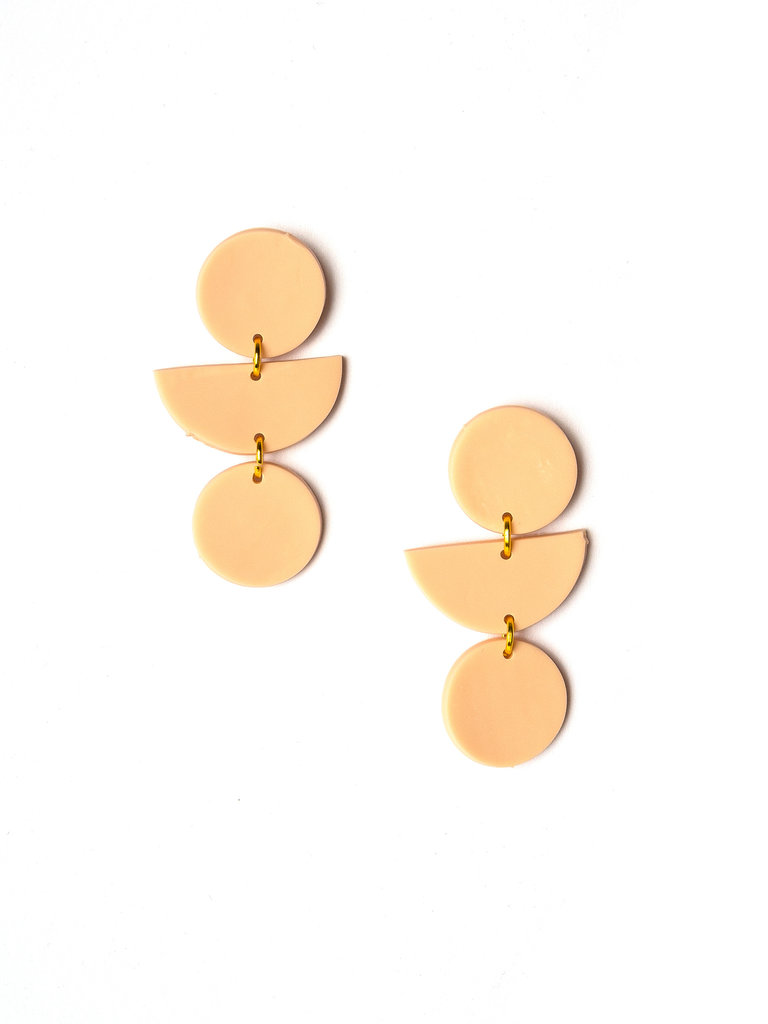 Adell Clay Earrings, Blush