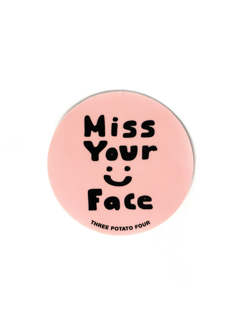 Miss Your Face Sticker