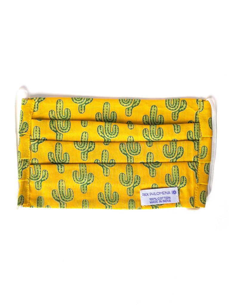 Marigold Cactus Face Mask