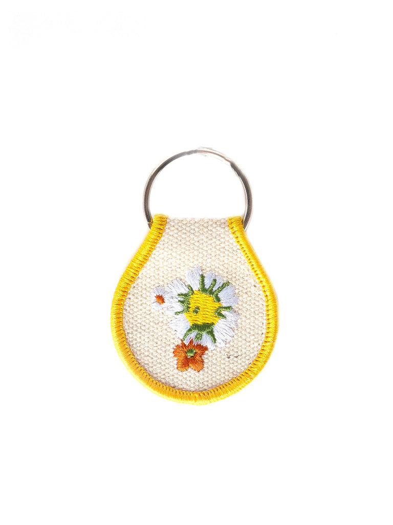 Daisy Patch Keychain