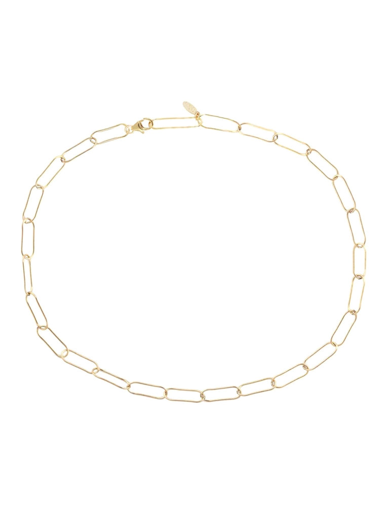 Large Link Chain Necklace, Gold