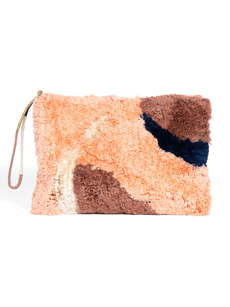 Flame Tufted Pouch
