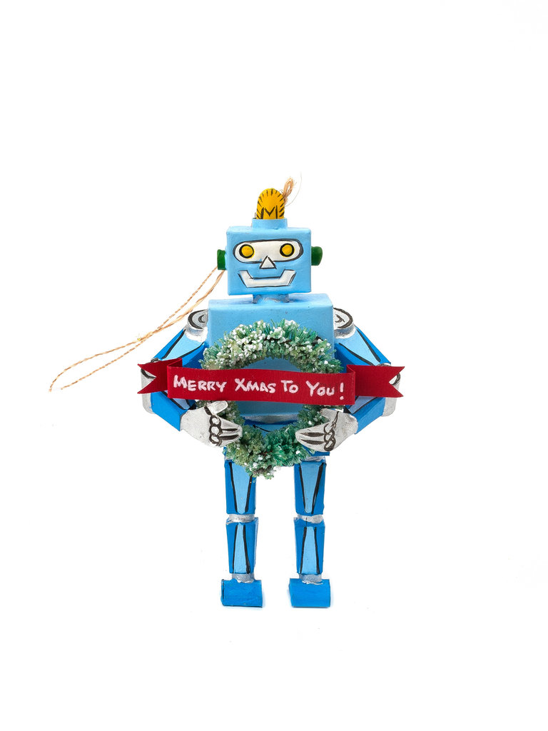 Cheerful Robot Ornament