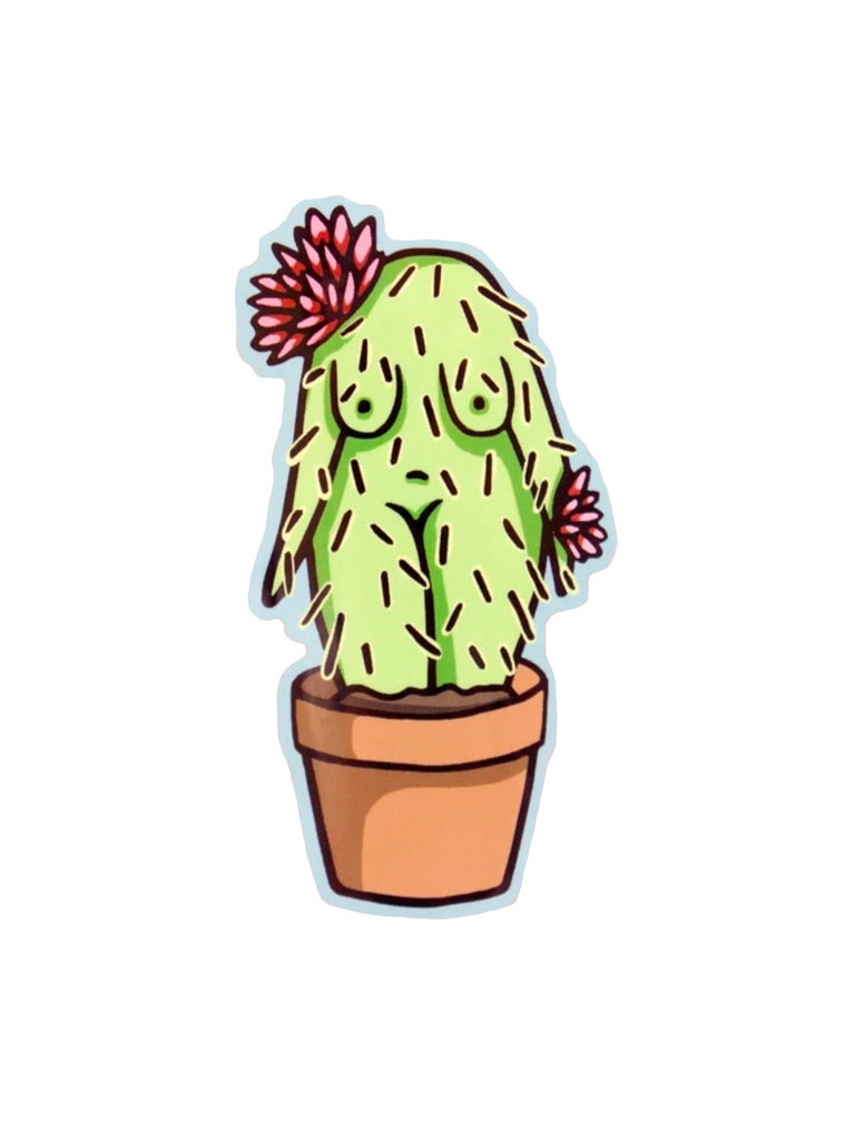 Cactus Girl Sticker