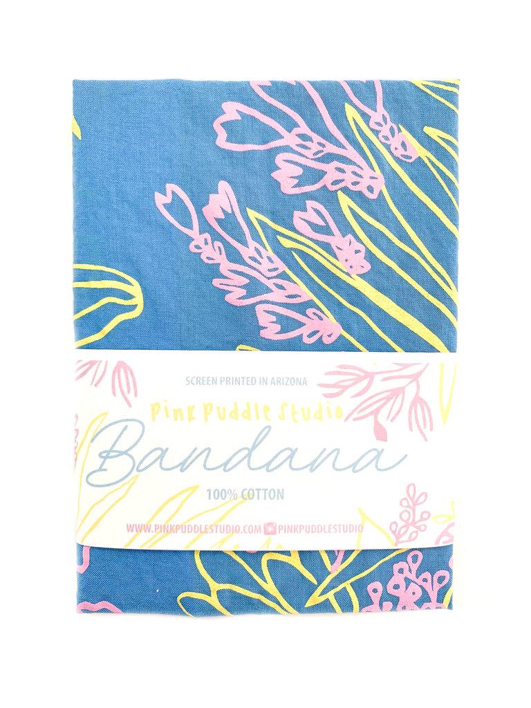 Desert Agave Blue Bandana