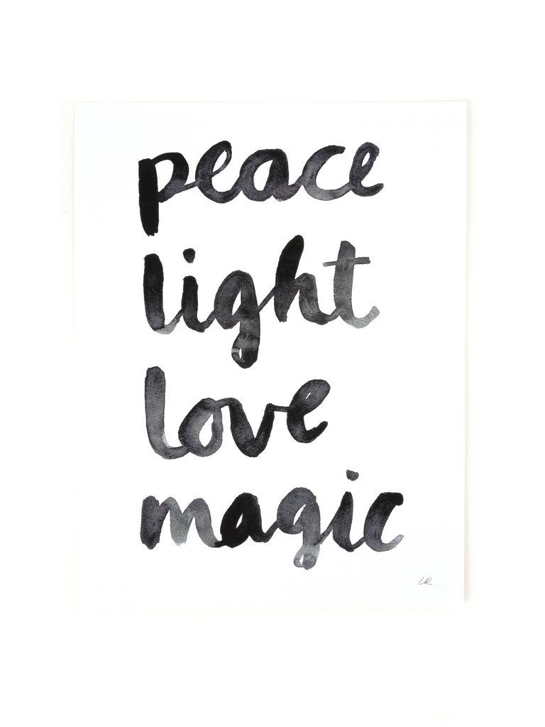Peace Light Love Magic Print