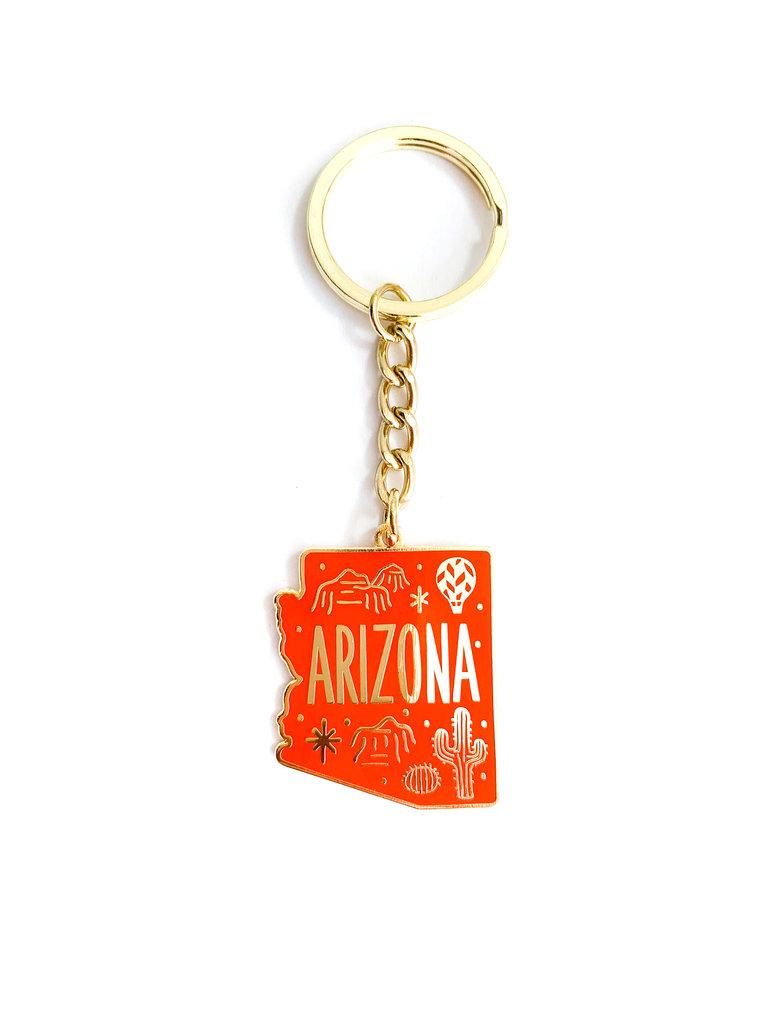 Red Arizona Keychain