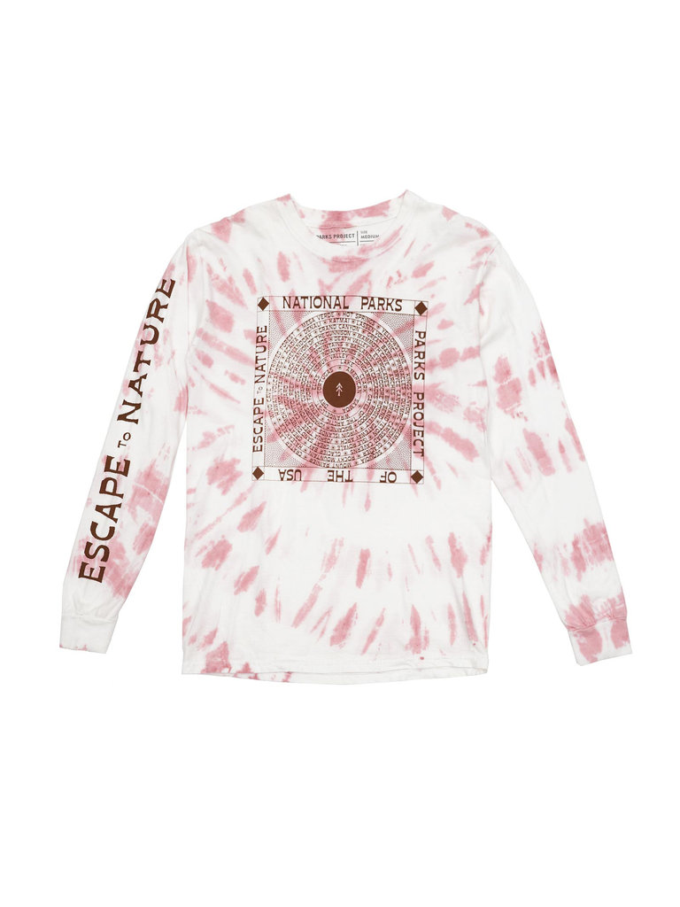 Escape To Nature Tie Dye Long Sleeve Tee