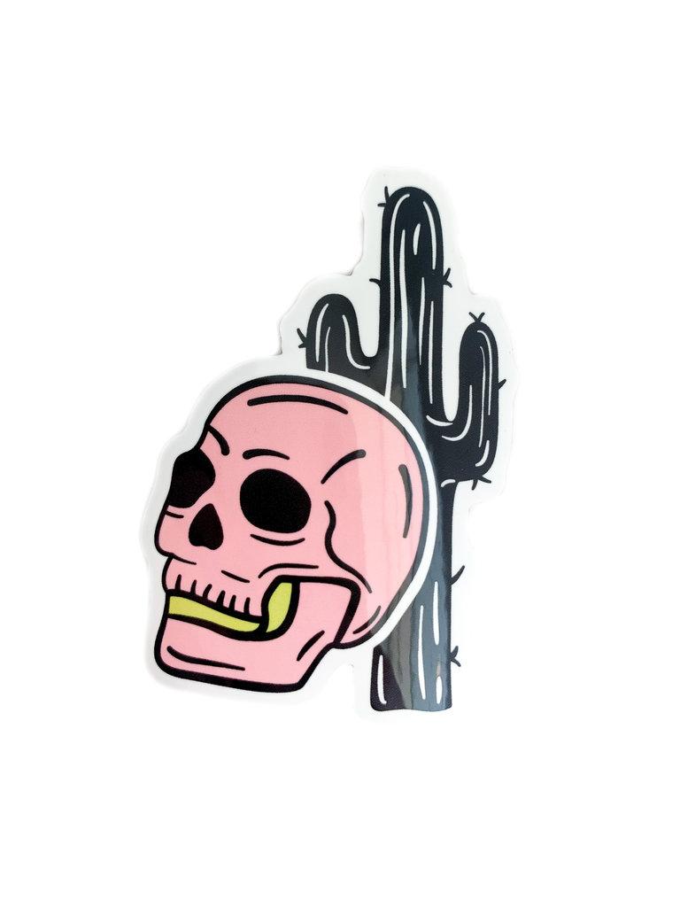 Pink Skull Sticker