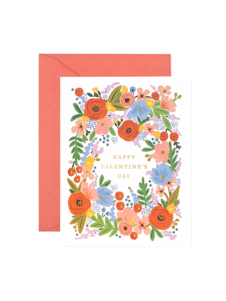Floral Valentines Greeting Card