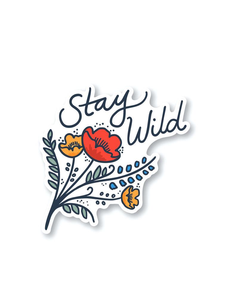 Stay Wild Wildflowers Sticker