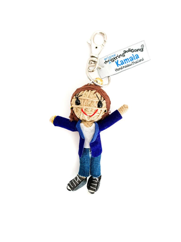 Kamala String Doll, Blue Jacket