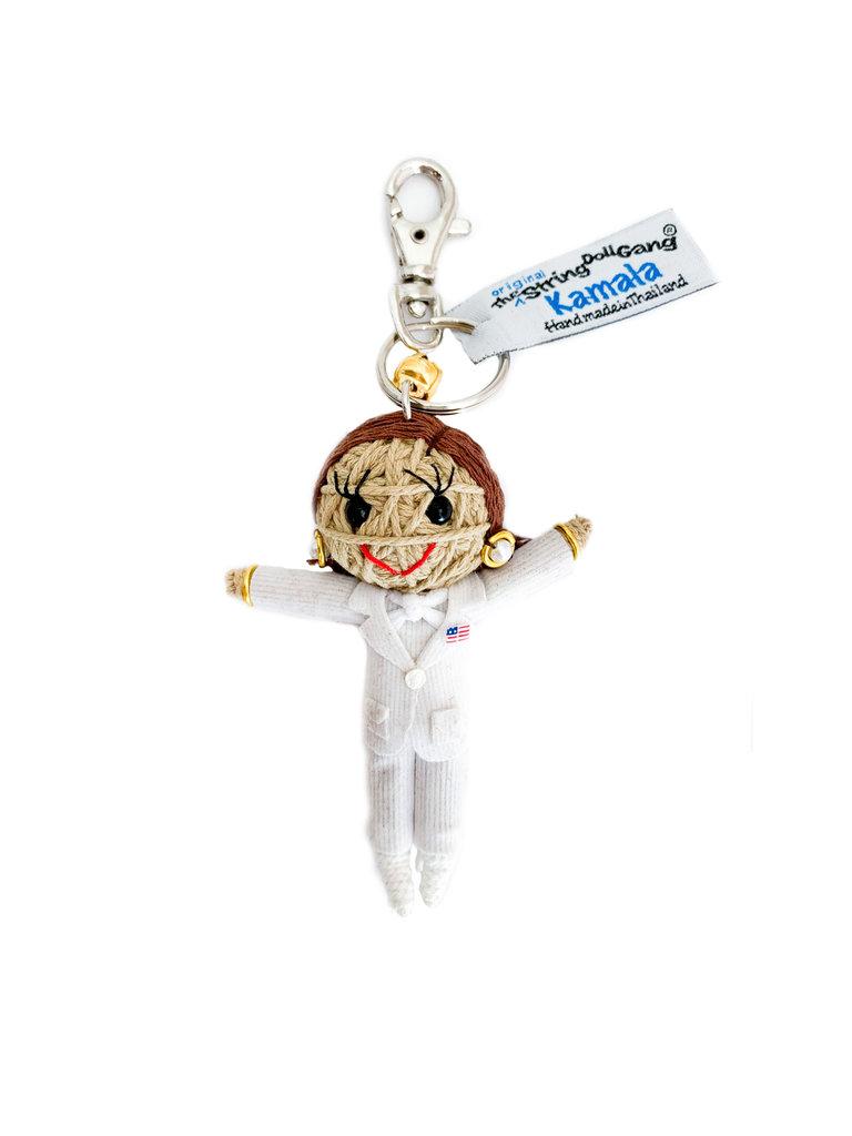 Kamala String Doll, White Jacket