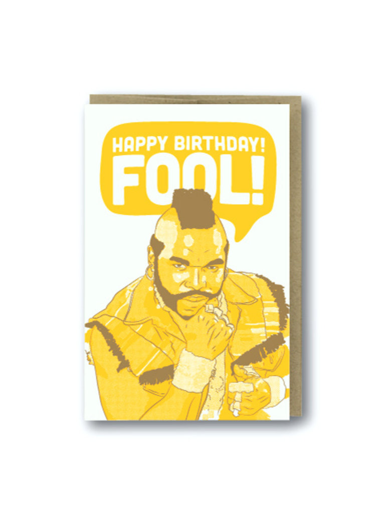 Happy Birthday Fool Card
