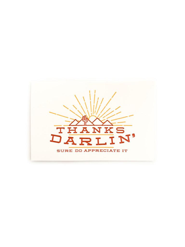 Thanks Darlin' Card