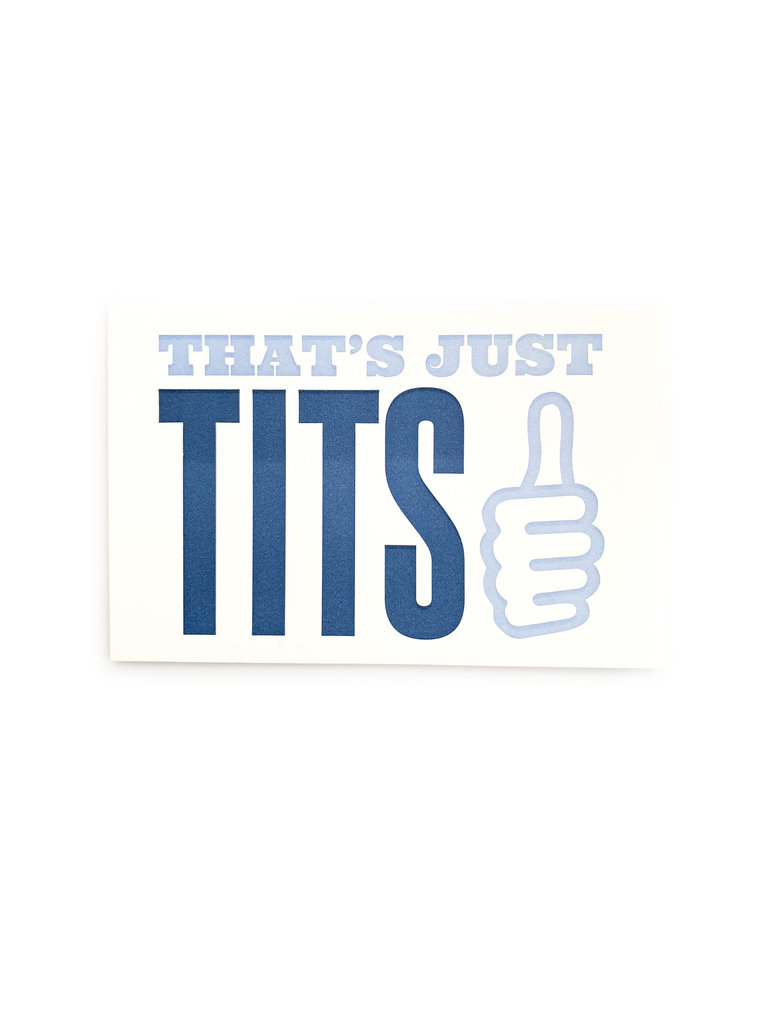 That's Just The Tits Card