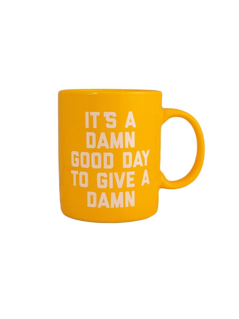 Damn Good Day Mug, Yellow