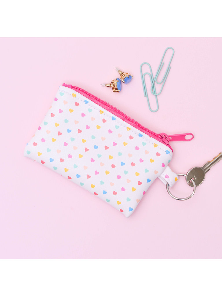Tiny Hearts Key Ring Pouch