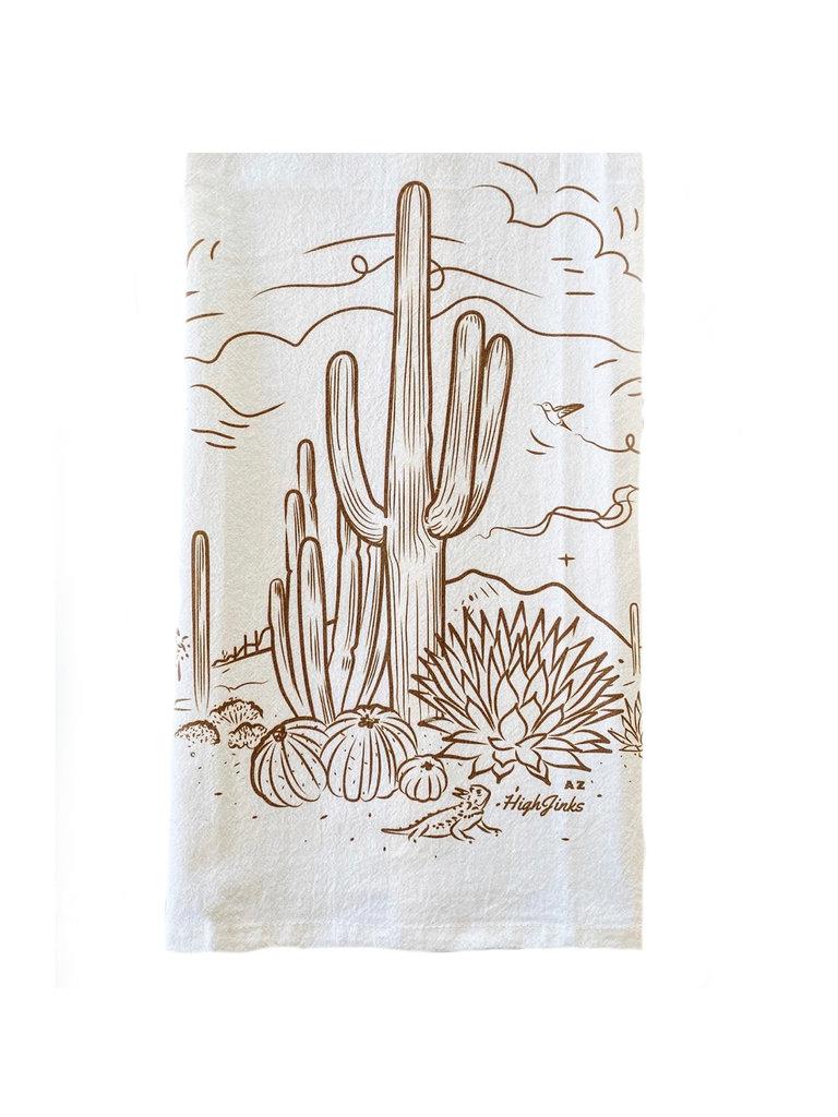 Sketchy Desert Bar Towel