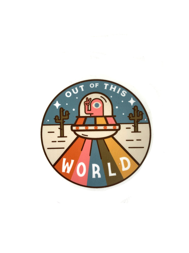 Out Of This World Sticker