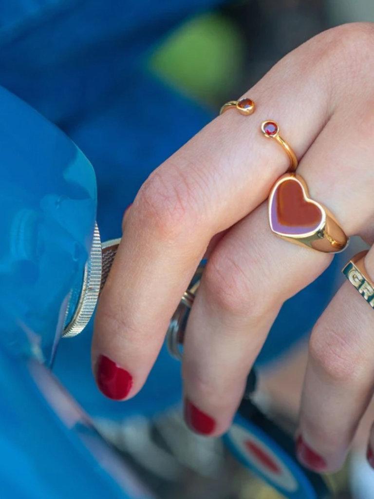 Heart Enamel Ring