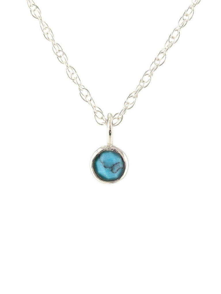 Sterling Silver Turquoise Gem Necklace