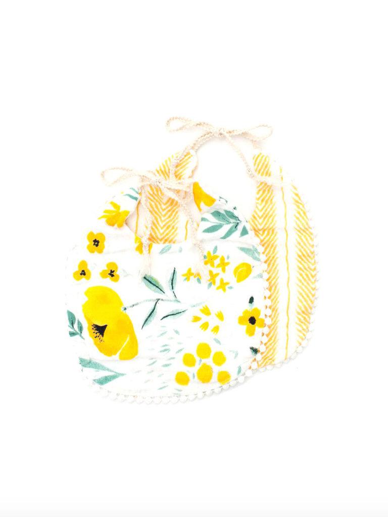 Herringbone & Buttercup Blossom Bib Pack