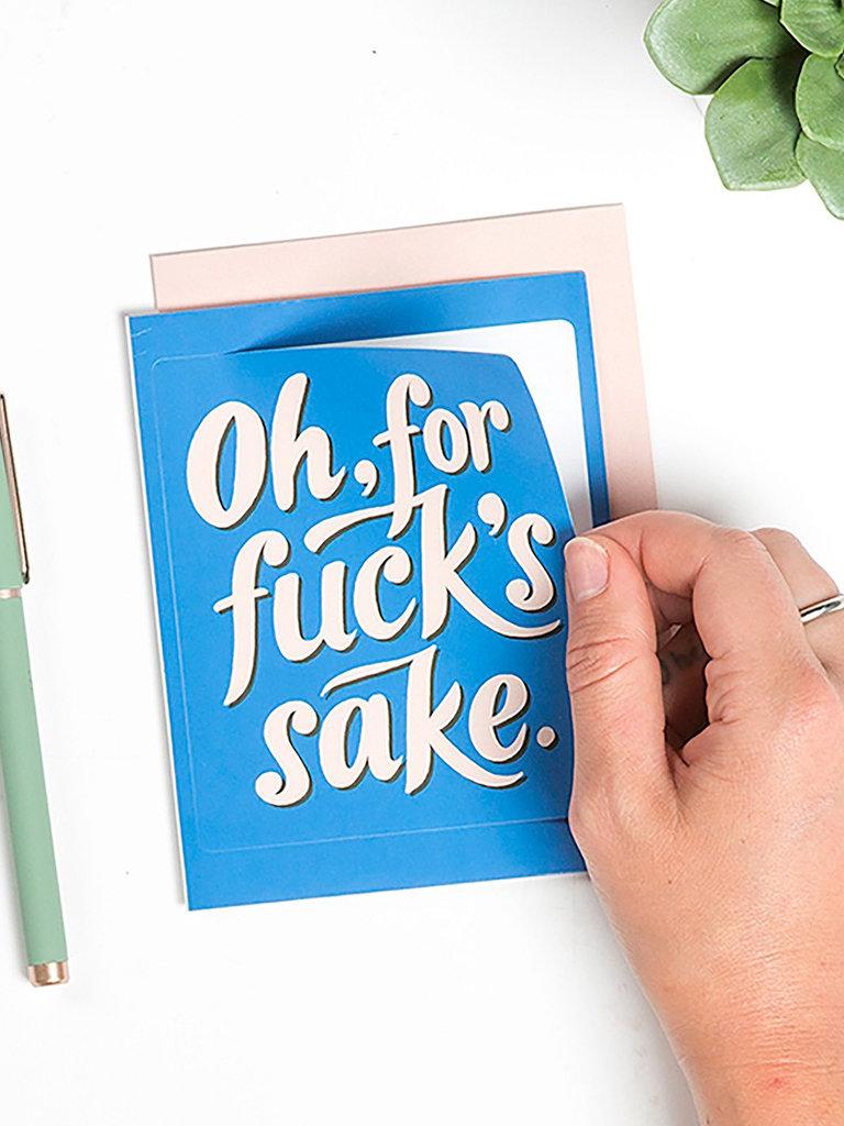 For F*cks Sake Sticker Card
