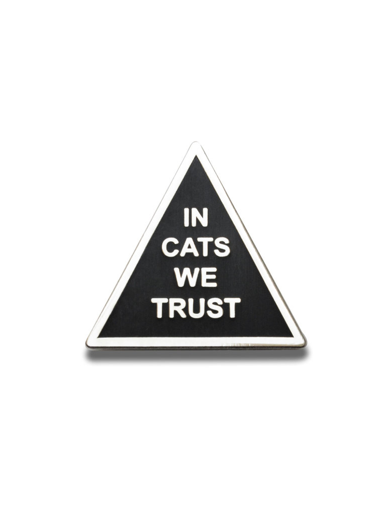 In Cats We Trust Lapel Pin