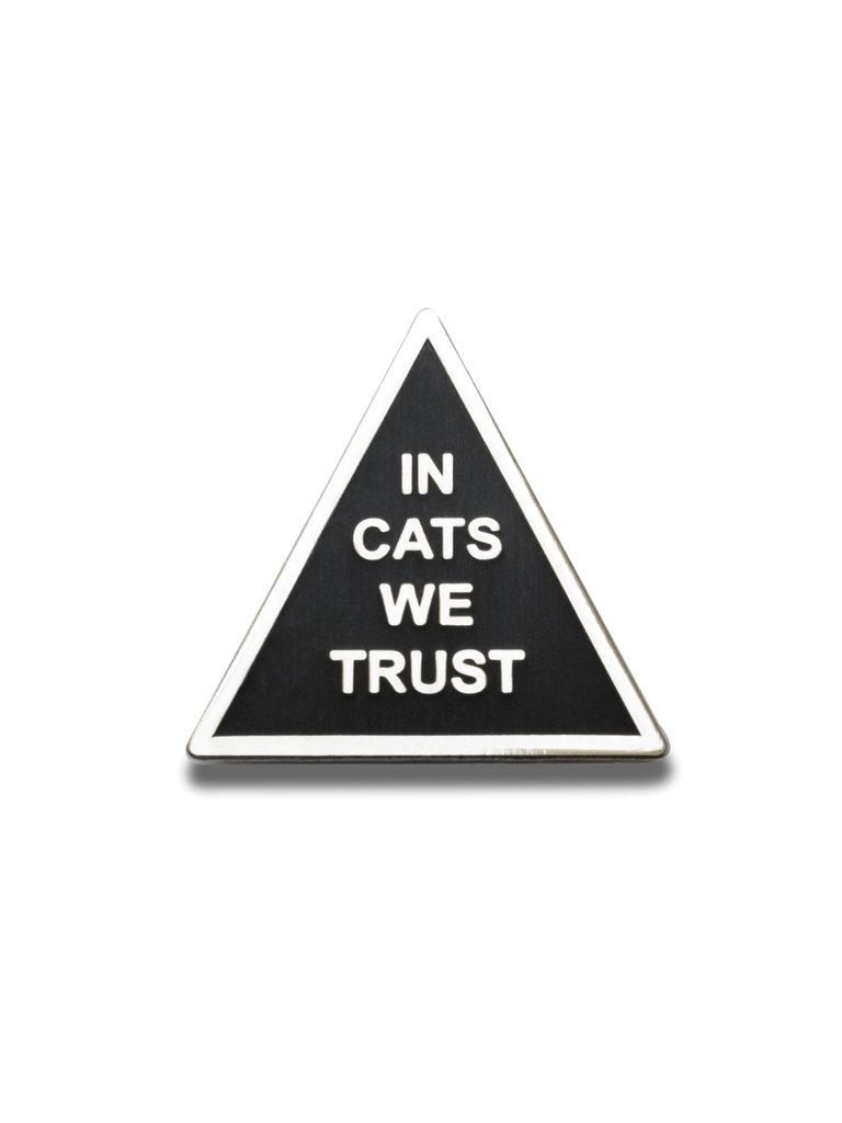 In Cats We Trust Lapel Pin
