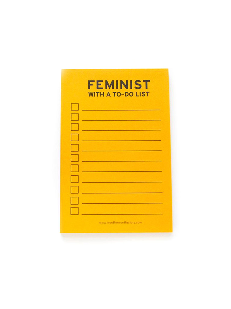 Feminist With a List Notepad
