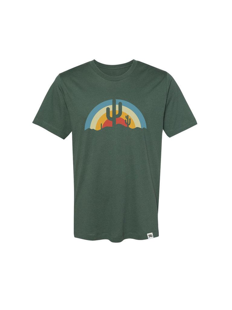Green Desert Sun Rays Tee