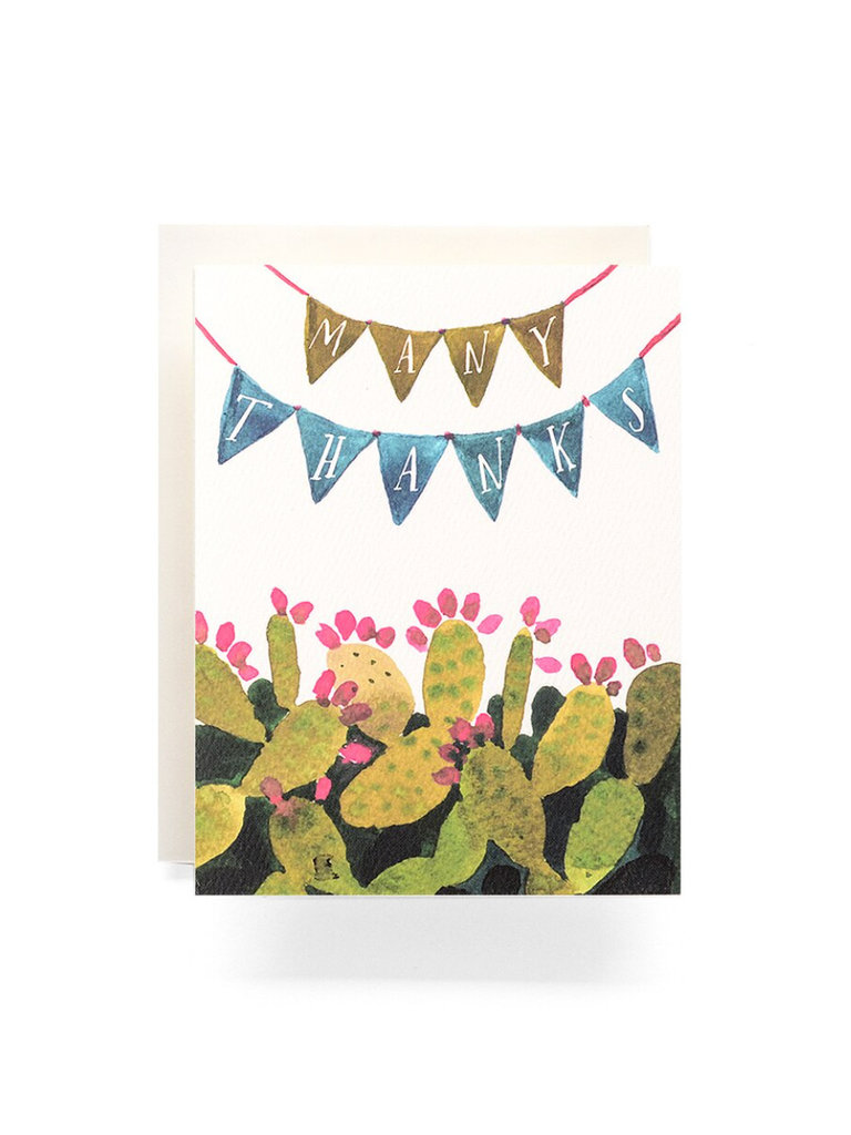 Cactus Pennant Thanks Card
