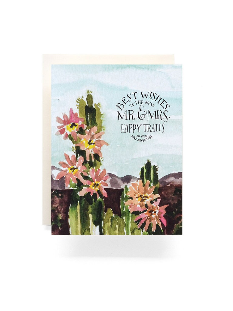 Mr. & Mrs. Cactus Card