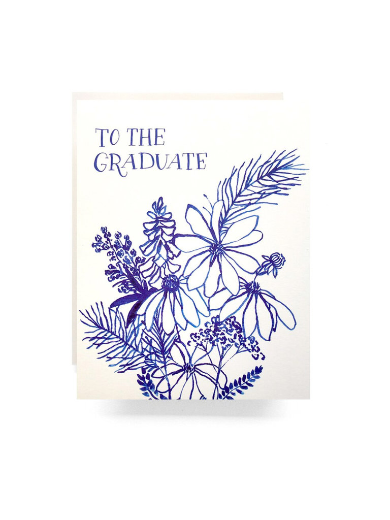 Indigo Flowers Graduate Card