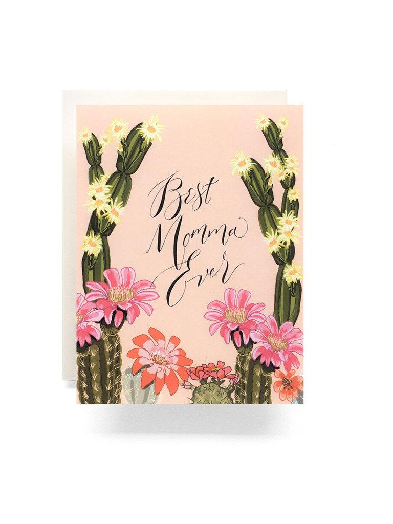Cactus Bloom Best Mom Card