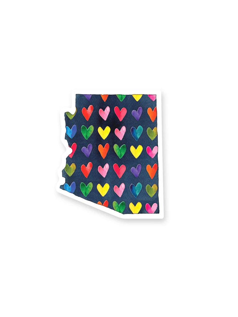 AZ Hearts Sticker