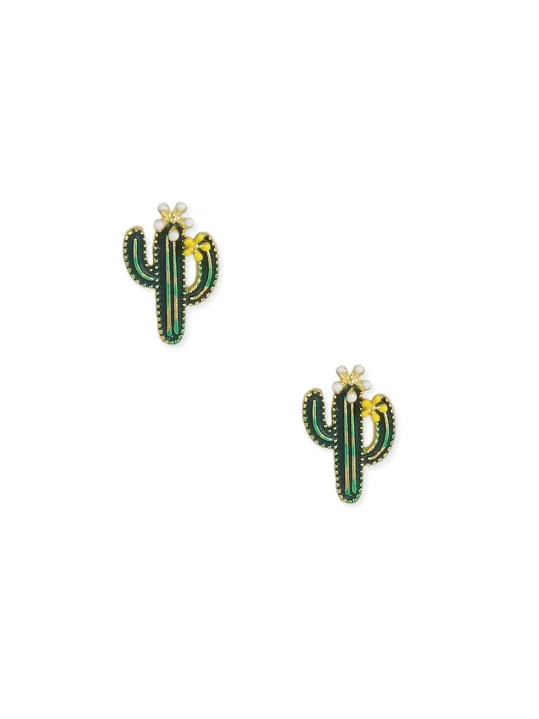 Desert Cactus Enamel Studs