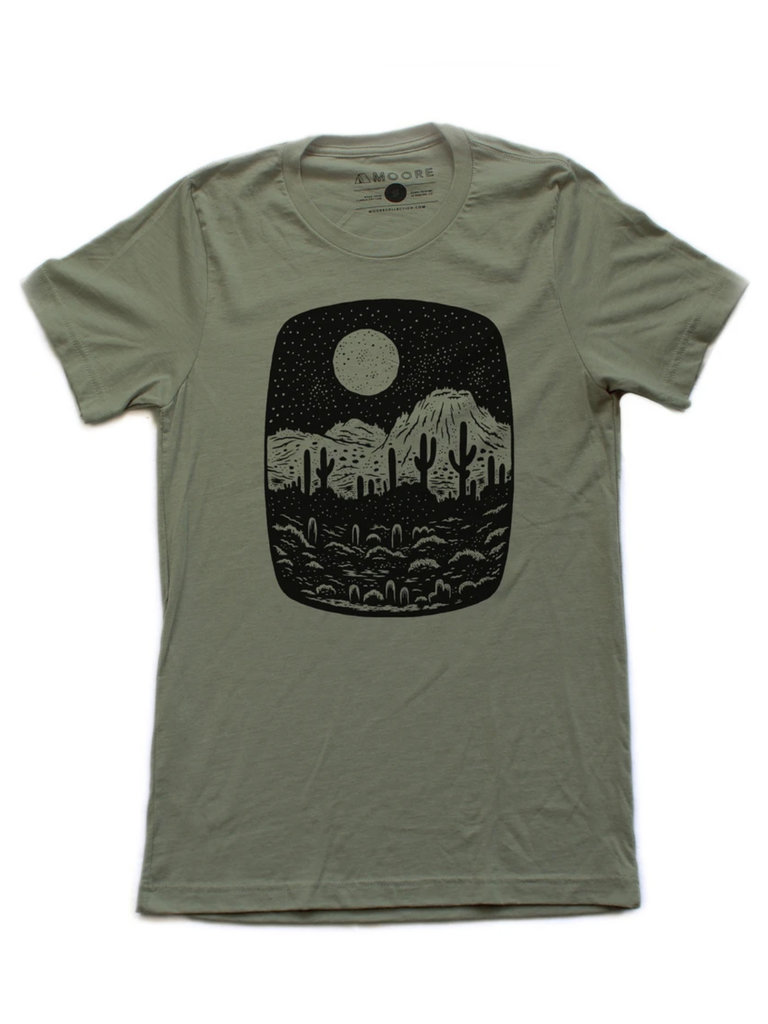 Night Butte Olive T-Shirt